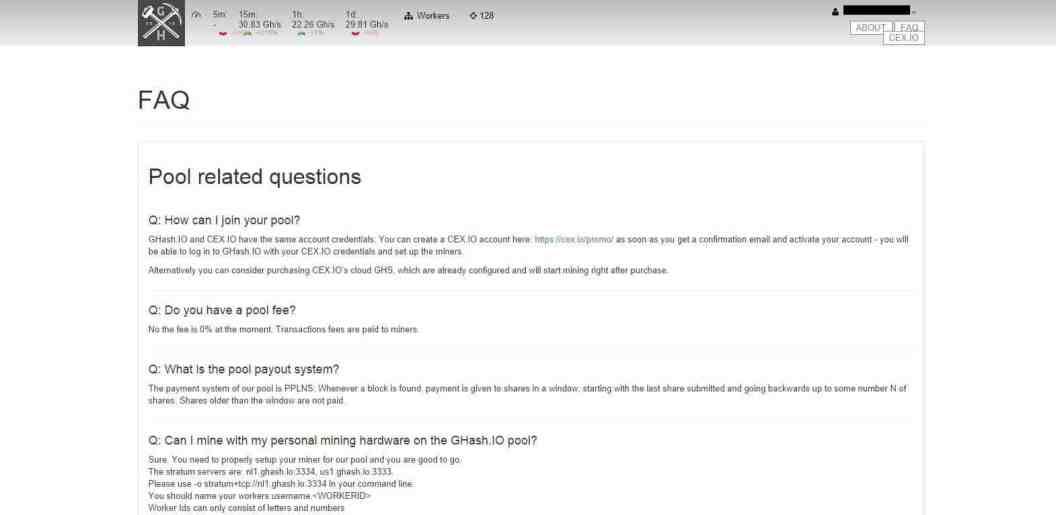 FAQ information on ghash