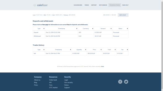 Keep track of transactions and fees paid