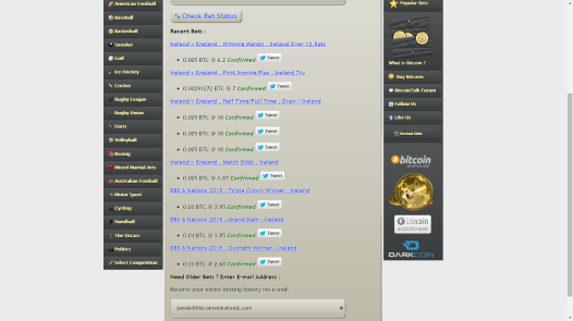 Your bets in one place, you can add to them if you want to increase your stake