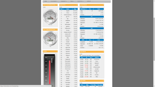 Lots of information on live stats across the pool