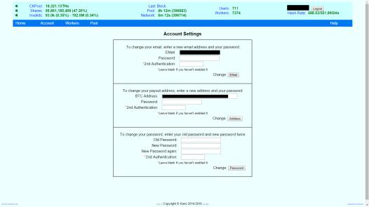 Basic security setup, and payout address
