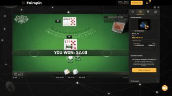 Blackjack on Fairspin