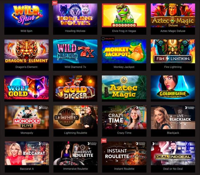 Online casino games with no deposit bonus