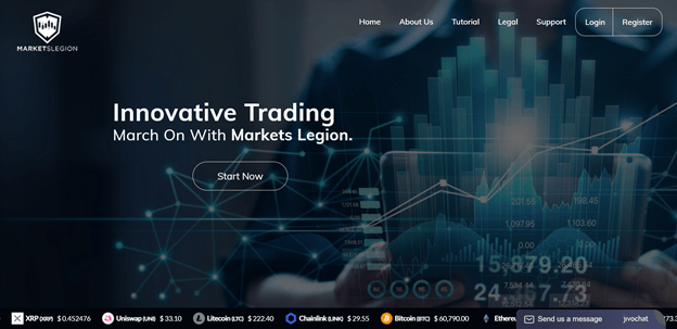 Markets Legion cryptocurrency trading