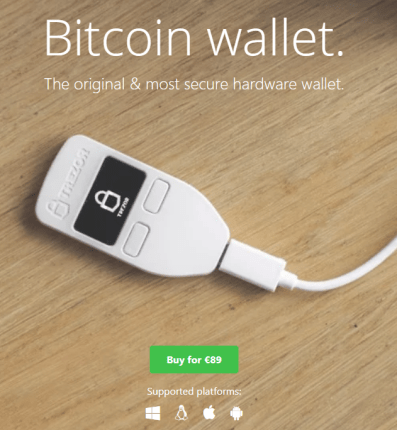 bitcoin wallet safe protect hardware wallet btc coins cryptocurrency private keys trezor ledger hardware wallet