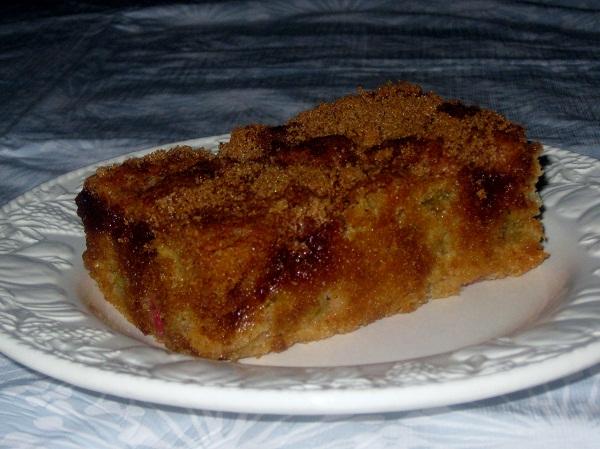 Rhubarb Cake Farmhouse Style