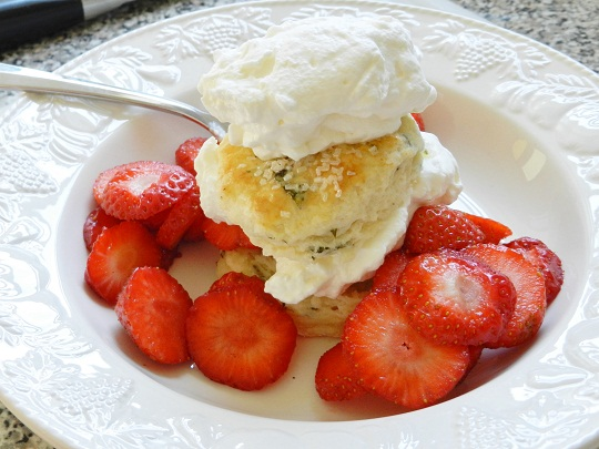 Strawberry Minted Shortcakes