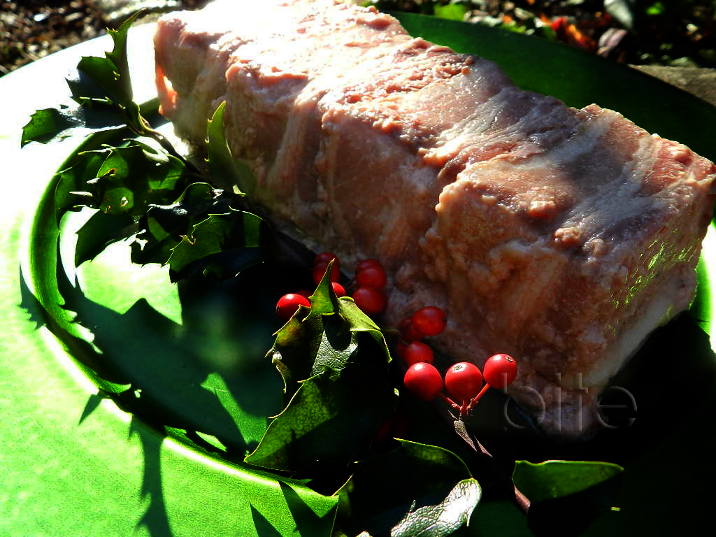 Christmas Pork Terrine with Pistachios and Dried Cranberries