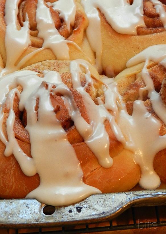 quick iced cinnamon buns