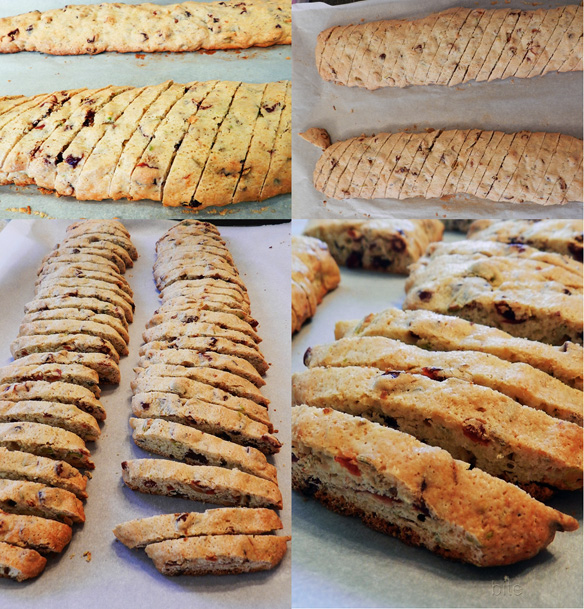 cantucci baked and sliced