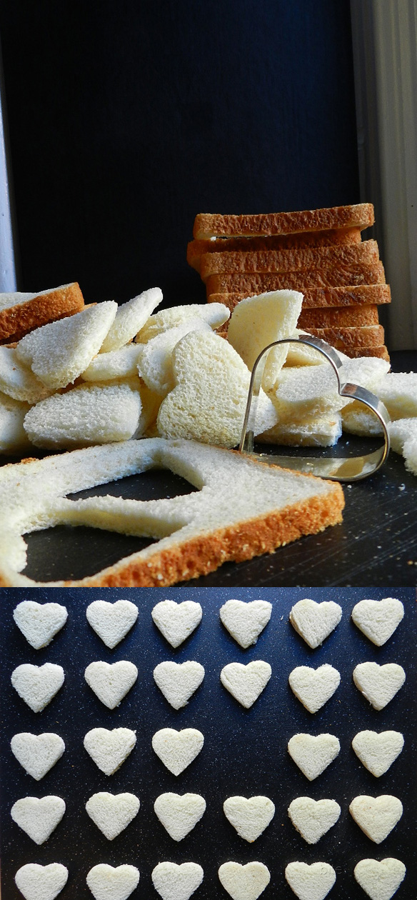 heart shaped sandwich cut outs