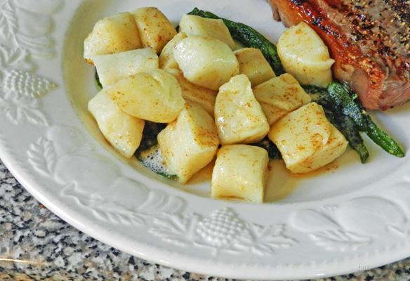 potato gnocchi with crispy sage