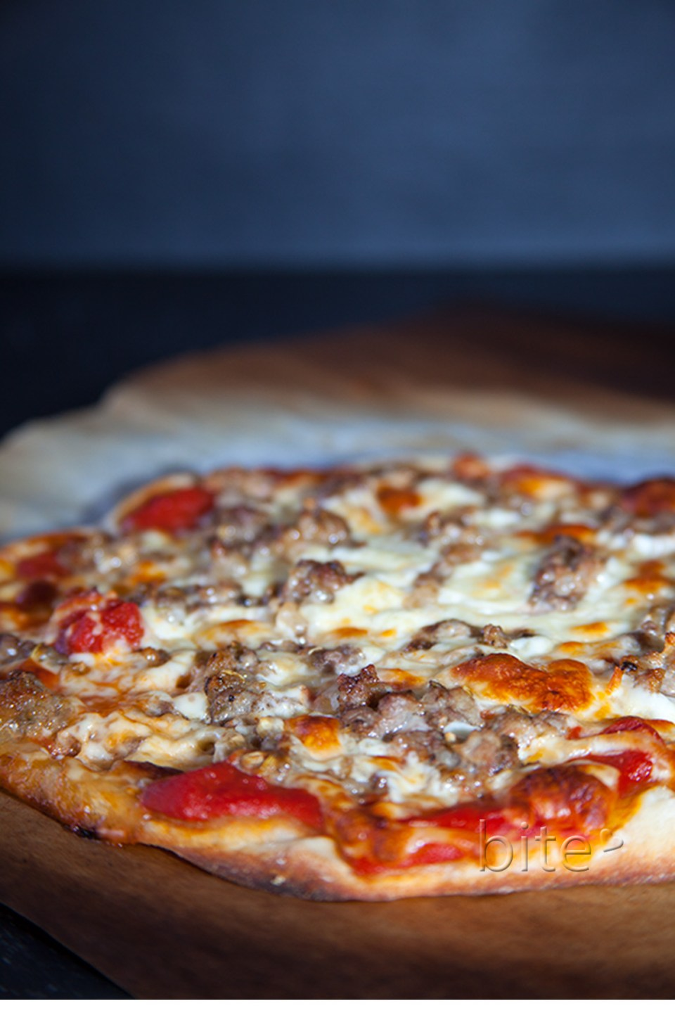 homemade fennel sausage pizza