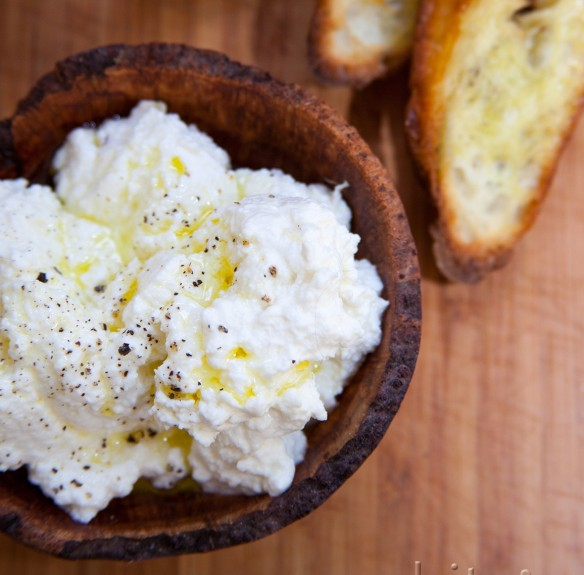 fresh ricotta – you can make your own cheese