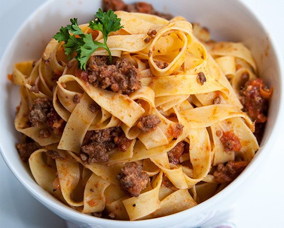 venison and pork bolognese