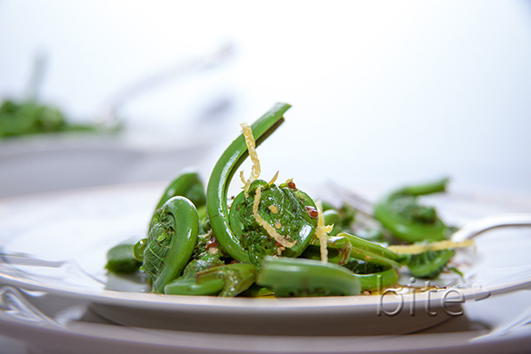 fiddleheads…