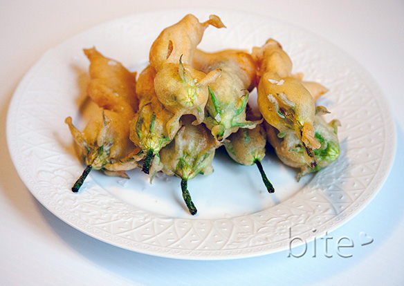 deep fried zucchini blossoms