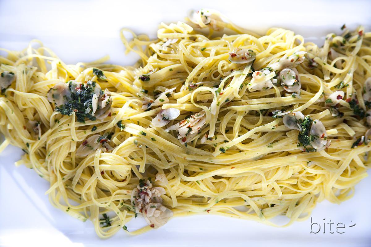 linguine with garlic and oil better known as aglio e olio