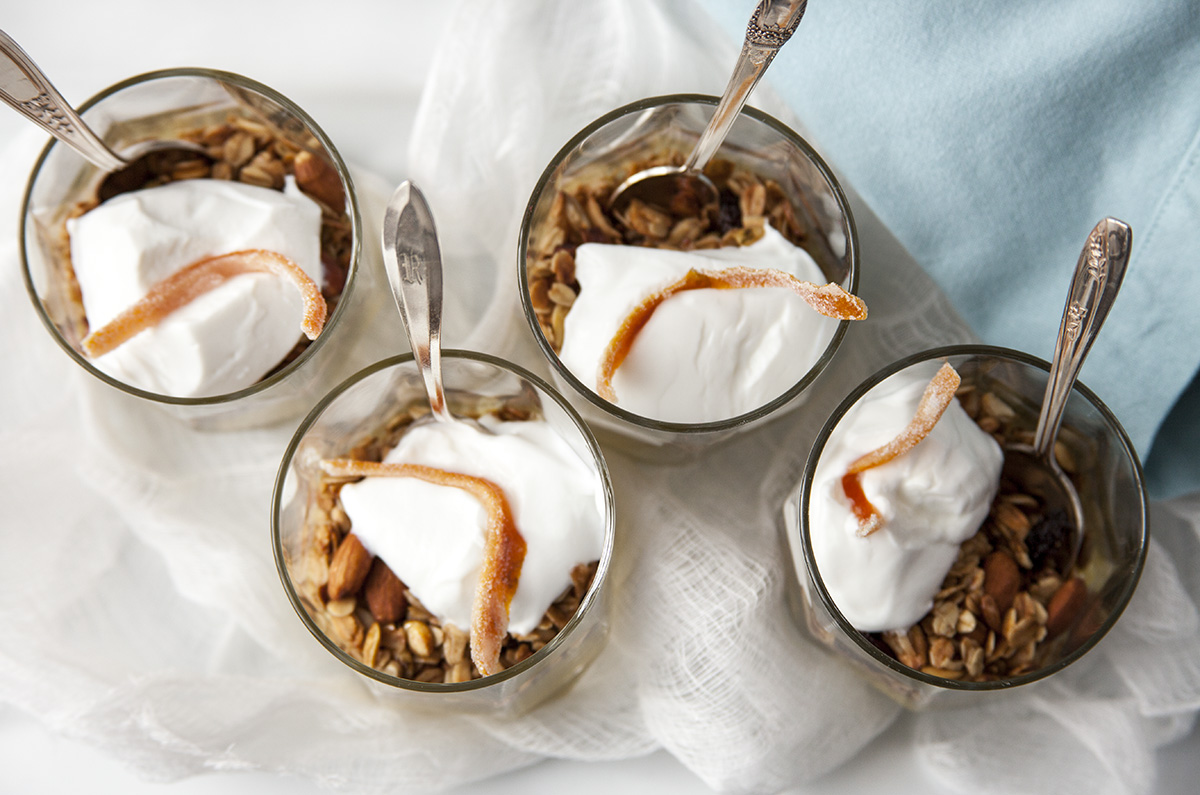 orange curd granola parfaits