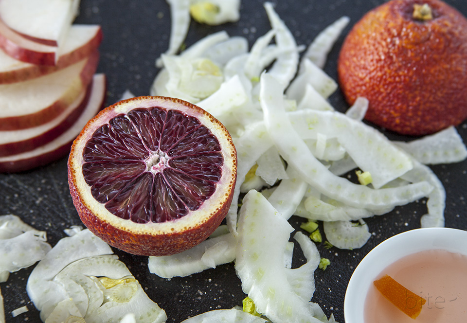candied orange peel vinaigrette / bitebymichelle.com
