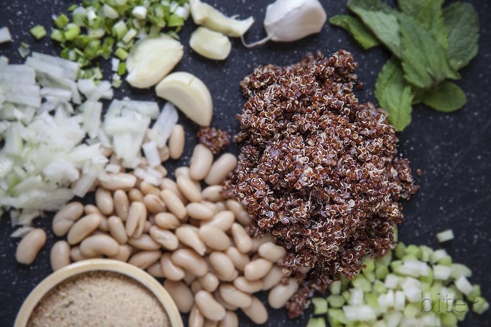 quinoa veggie balls with apple cayenne balsamic glaze / bitebymichelle.com