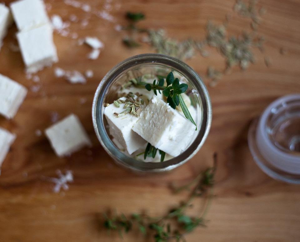 marinated feta – favorite 'must-have-in-fridge' food