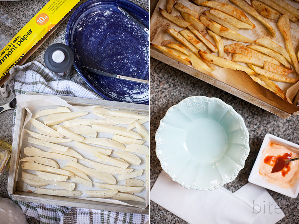 the secret to crispy fries without a deep fryer / bitebymichelle.com