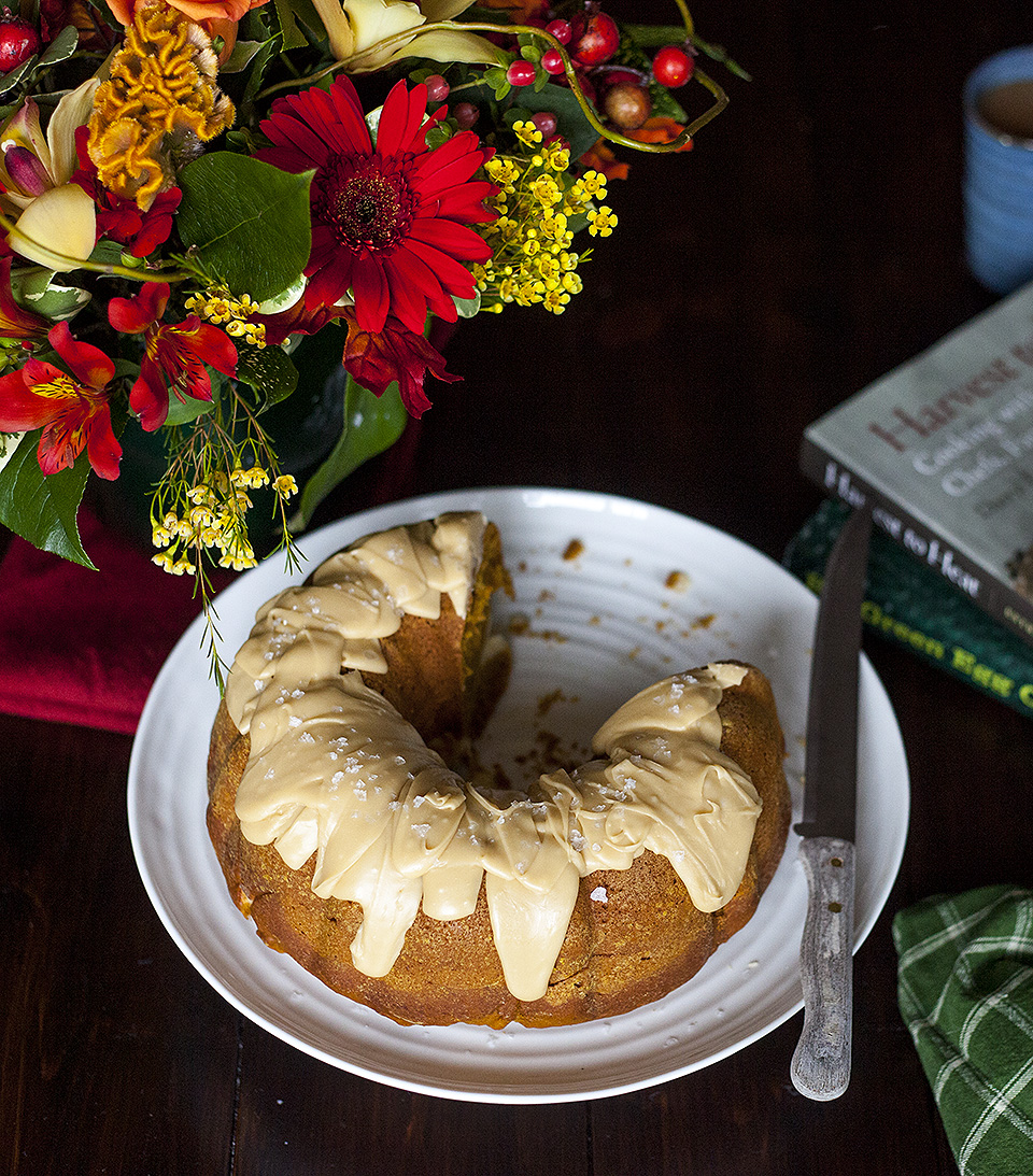 Pumpkin Bundt Cake with Salted Brown Sugar Fudge Drizzle 3