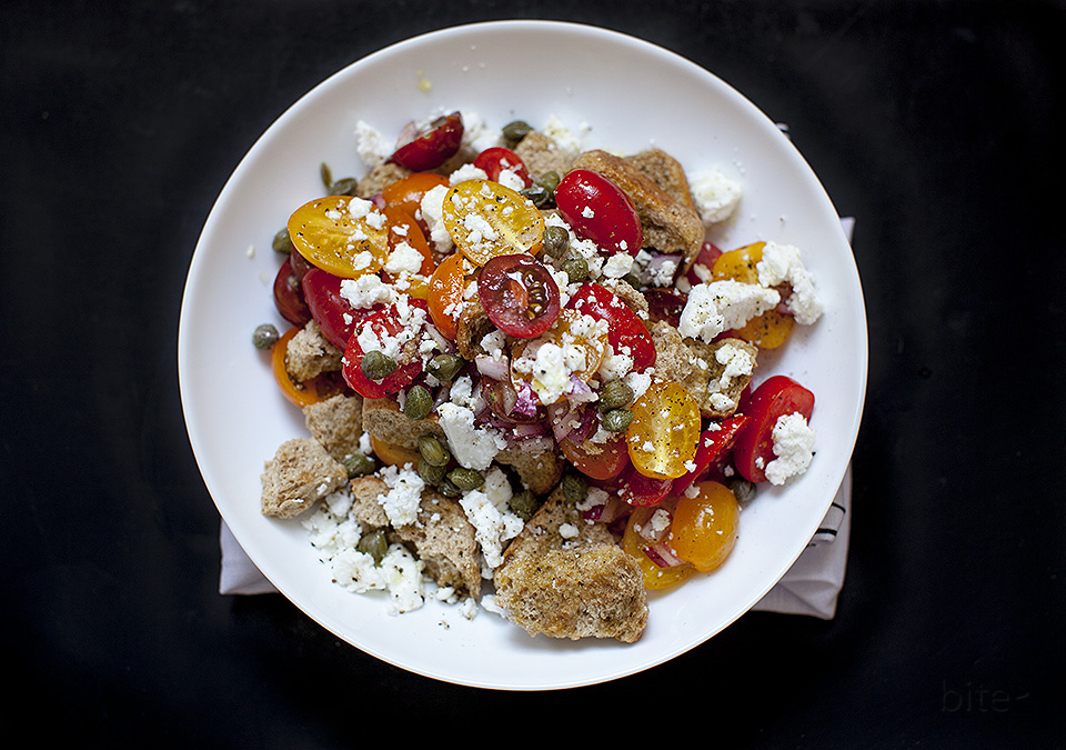 dakos - a greek bread salad / bitebymichelle.com