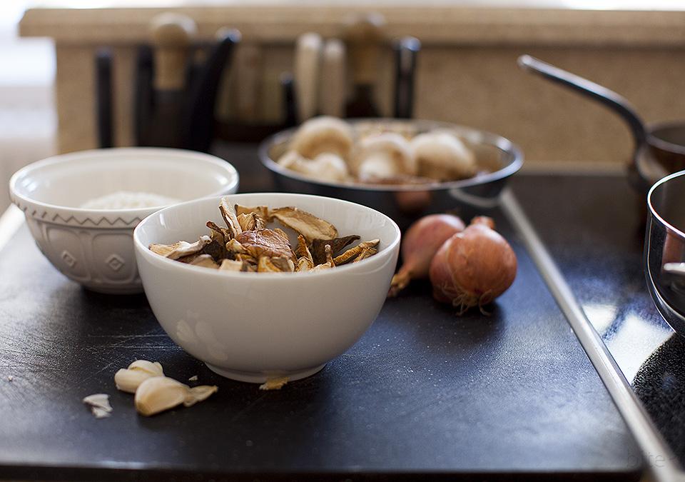 wild mushroom risotto for Valentine's Day / bitebymichelle.com