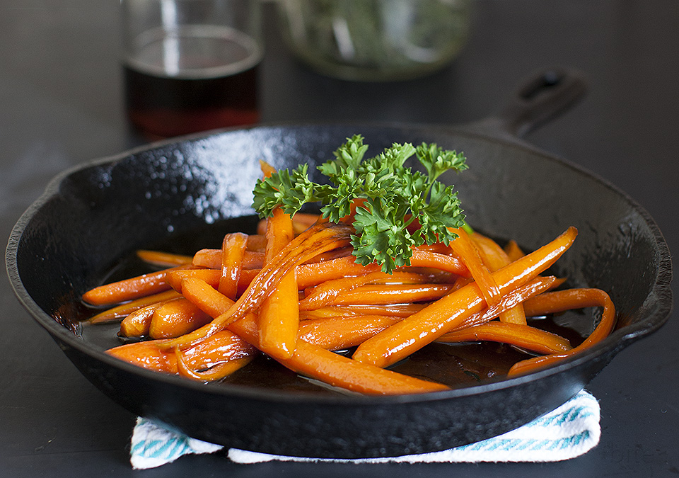maple candied carrots