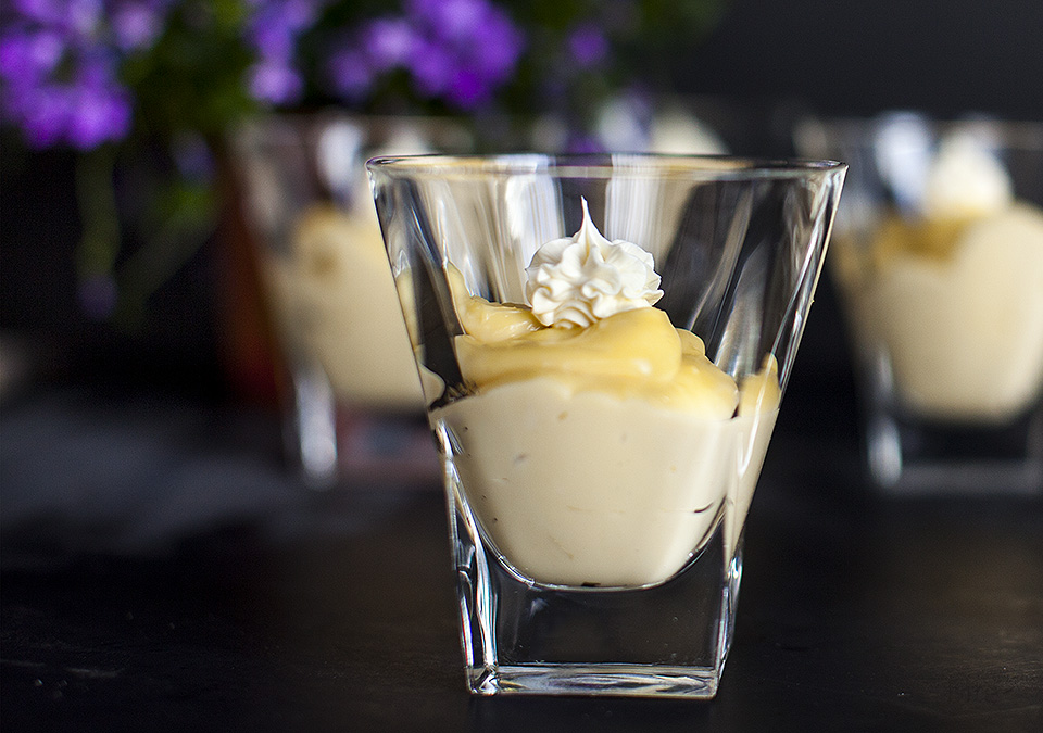 butterscotch pudding – not a powder mixed into cold milk