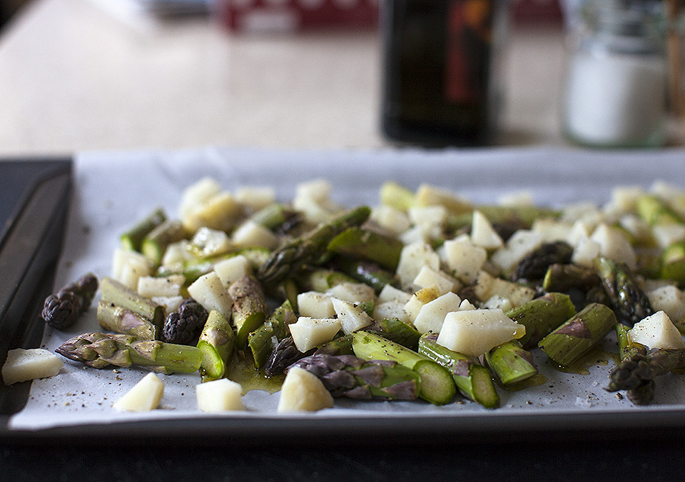 jerusalem artichoke and asparagus salad for Victoria Day weekend l bitebymichelle.com