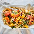 hot caprese pasta salad - a new go-to - bitebymichelle.com