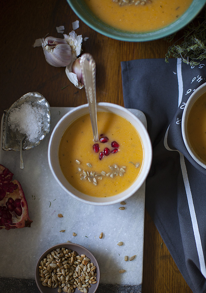 butternut squash and hard cider soup - bitebymichelle.com
