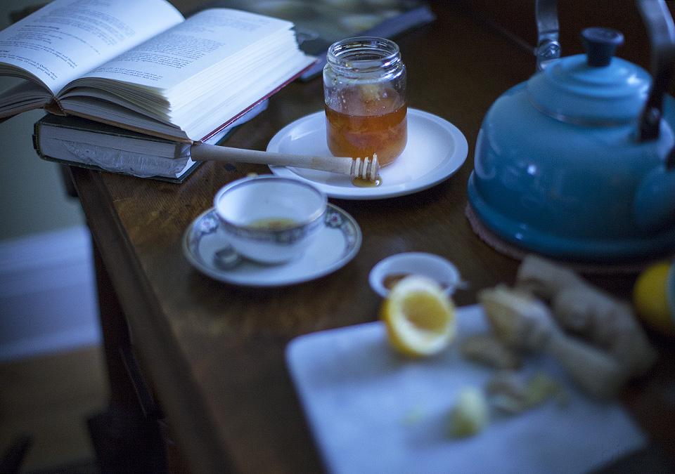 lemon ginger cayenne tea - time to begin again - bite
