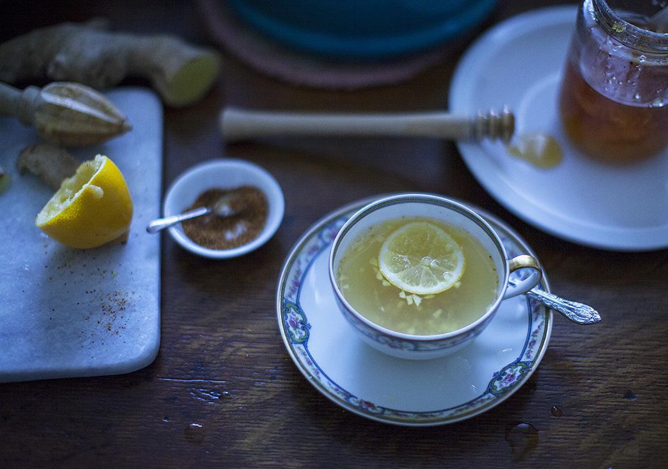 lemon ginger cayenne tea – time to begin again