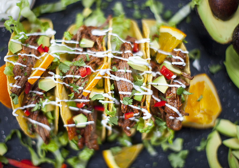 brisket - mexican braised tacos l bitebymichelle.com