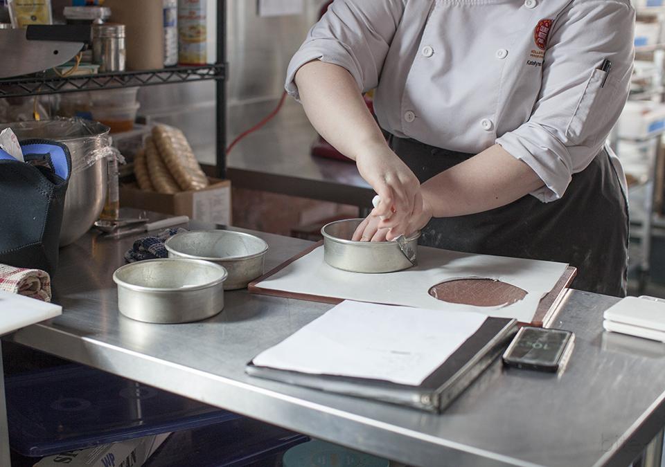 chocolate layer cake with espresso Italian buttercream l bitebymichelle.com
