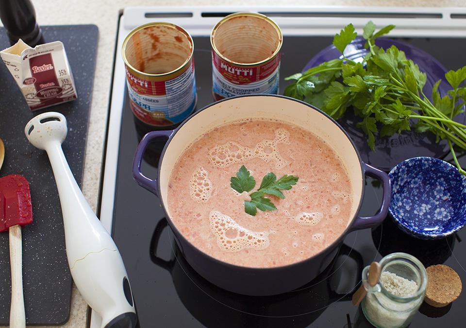 cream of tomato soup l bitebymichelle.com