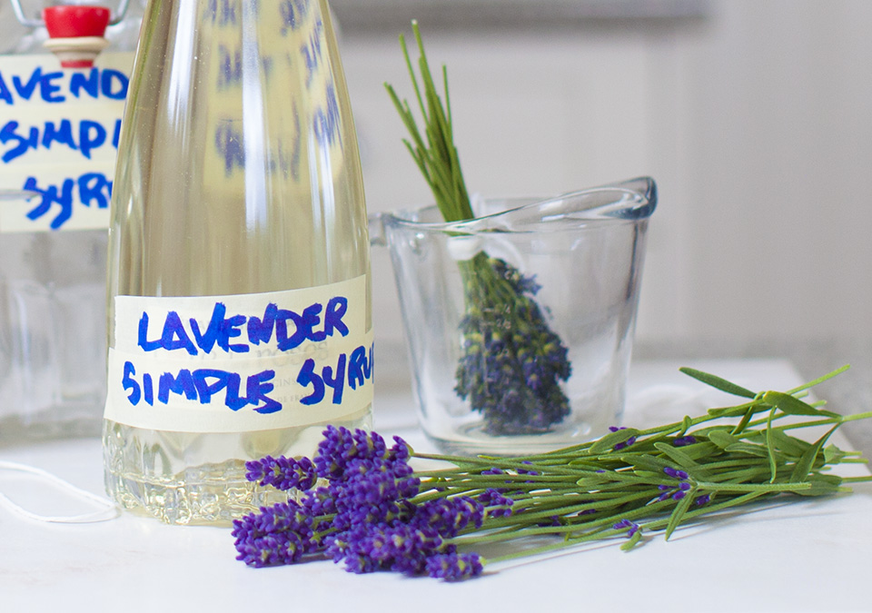 lavender simple syrup – the possibilities are endless