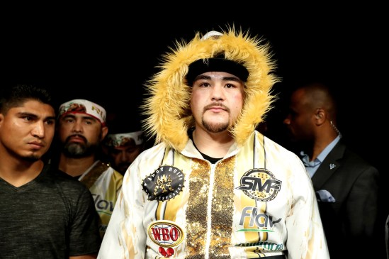 June 1, 2019; New York, NY; Andy Ruiz before his heavyweight championship bout at Madison Square Garden in New York City. Mandatory Credit: Ed Mulholland/Matchroom Boxing UK