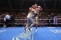 June 1, 2019; New York, NY; IBF, WBA, WBO and IBO heavyweight champion Anthony Joshua and Andy Ruiz during their heavyweight championship bout at Madison Square Garden in New York City. Mandatory Credit: Ed Mulholland/Matchroom Boxing UK