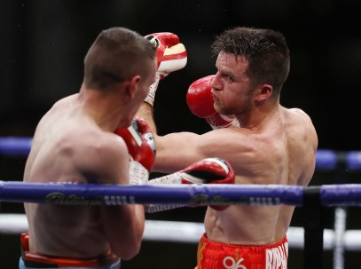 HANDOUT PICTURE COMPLIMENTS OF MATCHROOM BOXING Matchroom Boxing Fight Camp 2 Fight Night 7 August 2020 Picture By Mark Robinson Anthony Fowler vs Adam Harper, Super Welterweight contest.