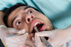 Patient anxious about dentist
