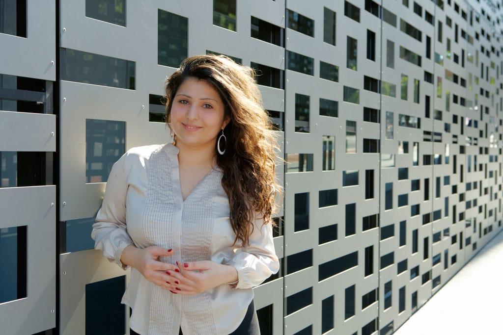 Samantha Khoury outside the University of Technology, Sydney.