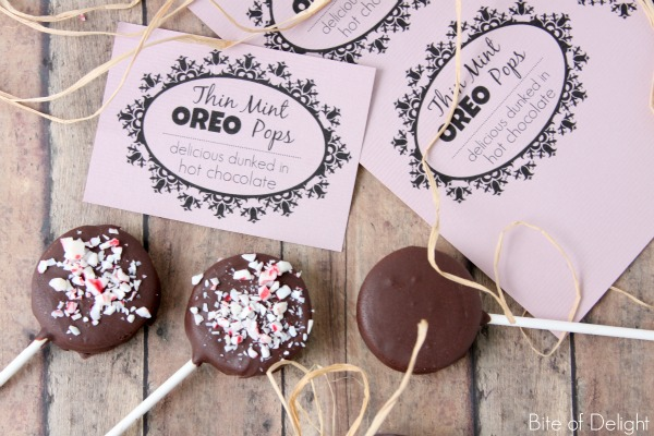 thin mint oreo pops | christmas treat | winter treat | neighbor gift