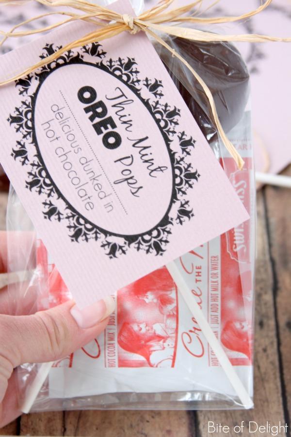 thin mint oreo pops   christmas treat   winter treat   neighbor gift