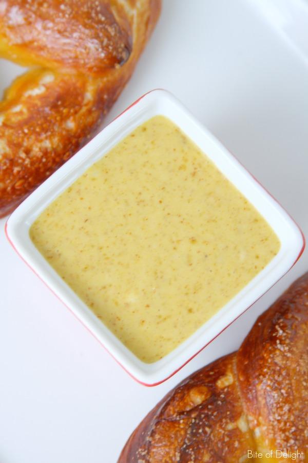 Sweet Mustard Dipping Sauce   Game Day   Recipe