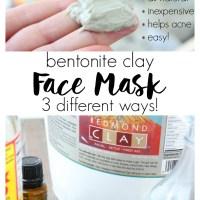 Bentonite Clay Face Mask 3 Ways